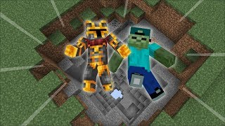 Minecraft DON'T FALL THROUGH THIS DIRT IN TO THE OTHER SIDE OF THE WORLD !! Minecraft Mods