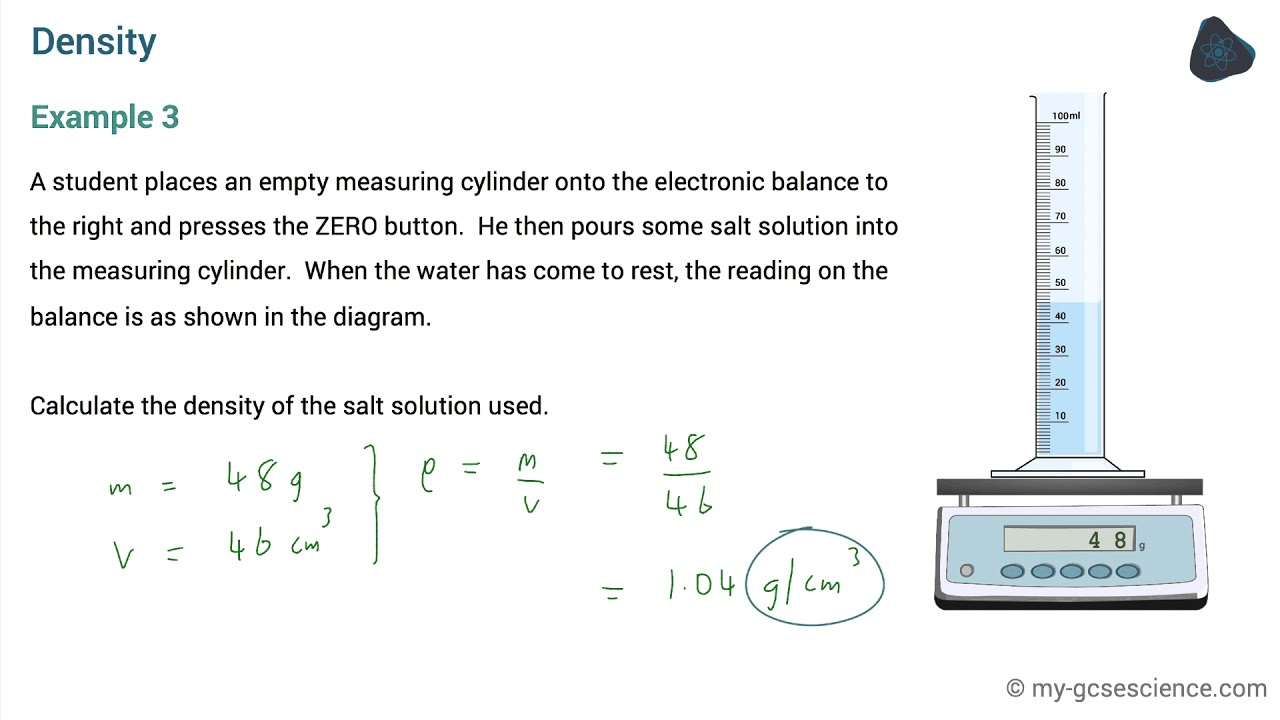GCSE Physics Density (AQA 9-1)