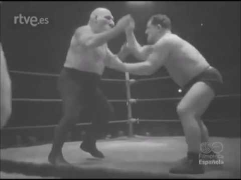 Maurice Tillet - French Angel in Barcelona Spain at Price Theater 1948