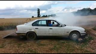 BMW enduro cross endurox gas gas burnout stunt