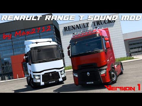 Renault Range T Sound Mod V1 By Max2712 | NEW 2021 Renault Trucks T Evolution Premiere | ETS2 Mods