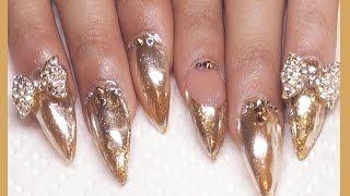 $ 24 Karat Gold Chrome Acrylic Full Set $