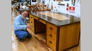 Making A Veneered Executive Desk, Part 6-4, Finishing Up: Andrew Pitts~furnituremaker
