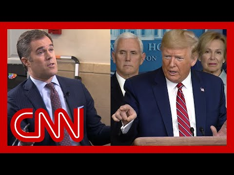 Trump rants at reporter asking about scared Americans