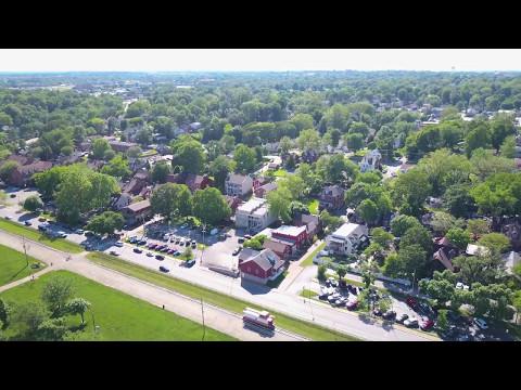 St Charles, Mo. - Main Street - Drone Video
