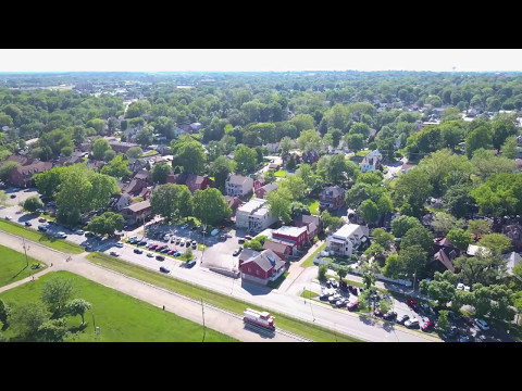 St Charles, Mo. - Main Street - Drone Video
