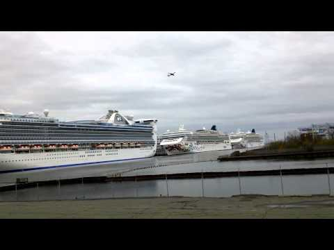 3 Cruise Ships in Port at Boston