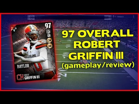 97 CAMPUS HERO ROBERT GRIFFIN III GAMEPLAY/REVIEW!! - MADDEN 17 ULTIMATE TEAM REVIEW [#14]