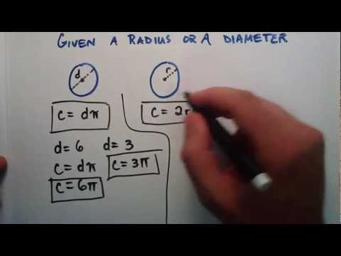 How to Find the Circumference (Distance Around the Outside) of a Circle Given a Radius or a Diameter