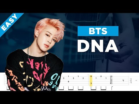 BTS DNA acoustic guitar lesson, chords and tab