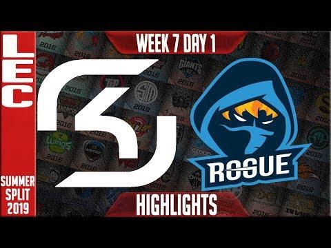 SK vs RGE Highlights | LEC Summer 2019 Week 7 Day 1 | SK Gaming vs Rogue