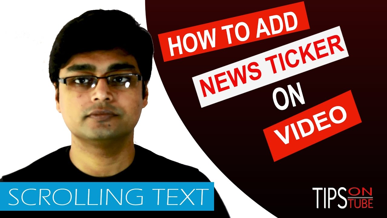 how to add text on youtube video