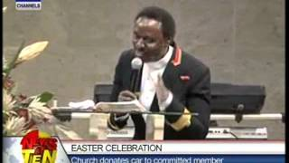 Easter Celebration:Church donates car to committed member