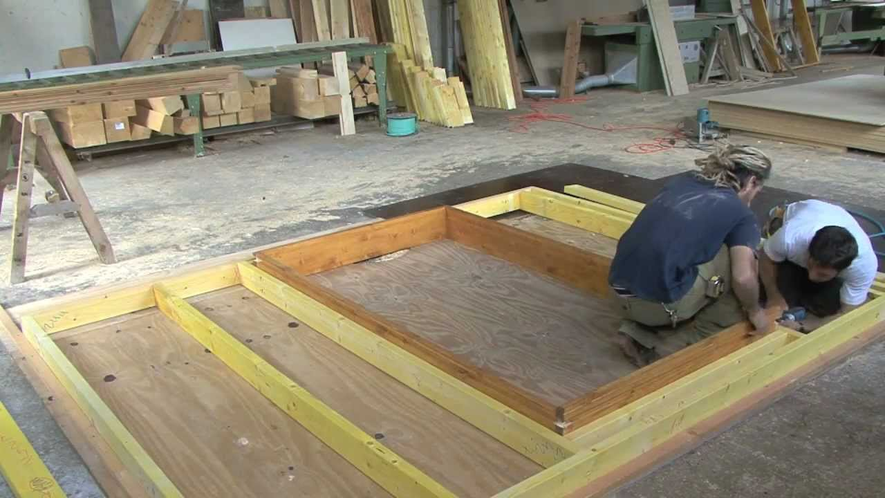 la construction d'un chalet en bois - youtube - Construction D Un Garage En Bois