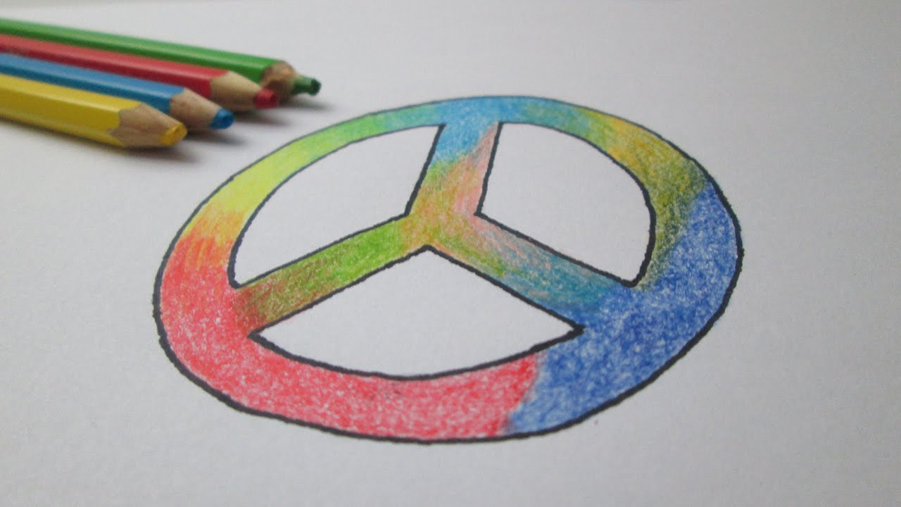 How To Draw The Symbol Of Peace Hippie Youtube