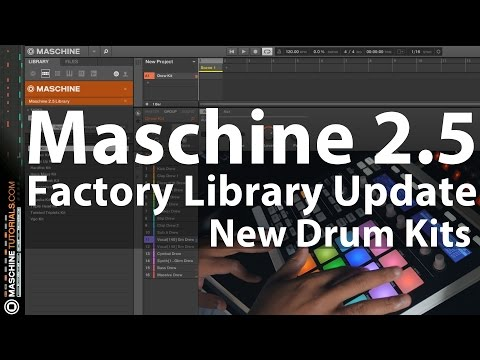 Maschine 2.5 Factory Library Update - Demo of the New Drum Kits