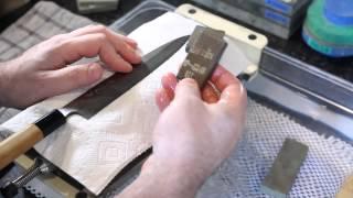 Japanese Knife Imports- Using Rust Erasers