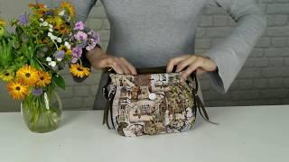 Женская маленькая сумочка Фландрия 160 гобеленэкокожа 21х18х7 см