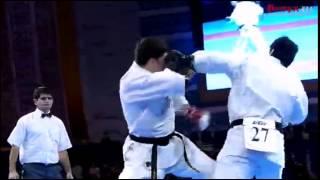 Kyokushin-kan karate shinken shobu kumite.