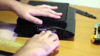how to install a new hard drive in a ps3 slim without  mounting bracket