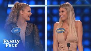 IndyCar Champs: When you gotta go, YOU GOTTA GO! | Celebrity Family Feud | OUTTAKE