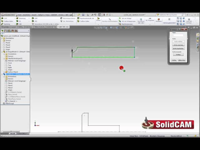 Formwerkzeuge in SolidCAM