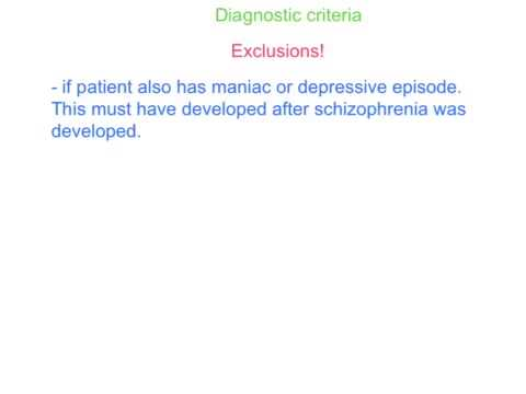 Schizophrenia Alevel revision- part one