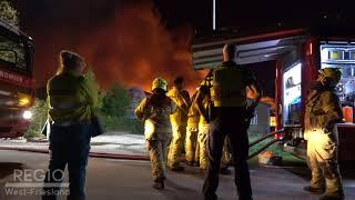 Zeer grote brand in Hem: Veel brandweer aanwezig