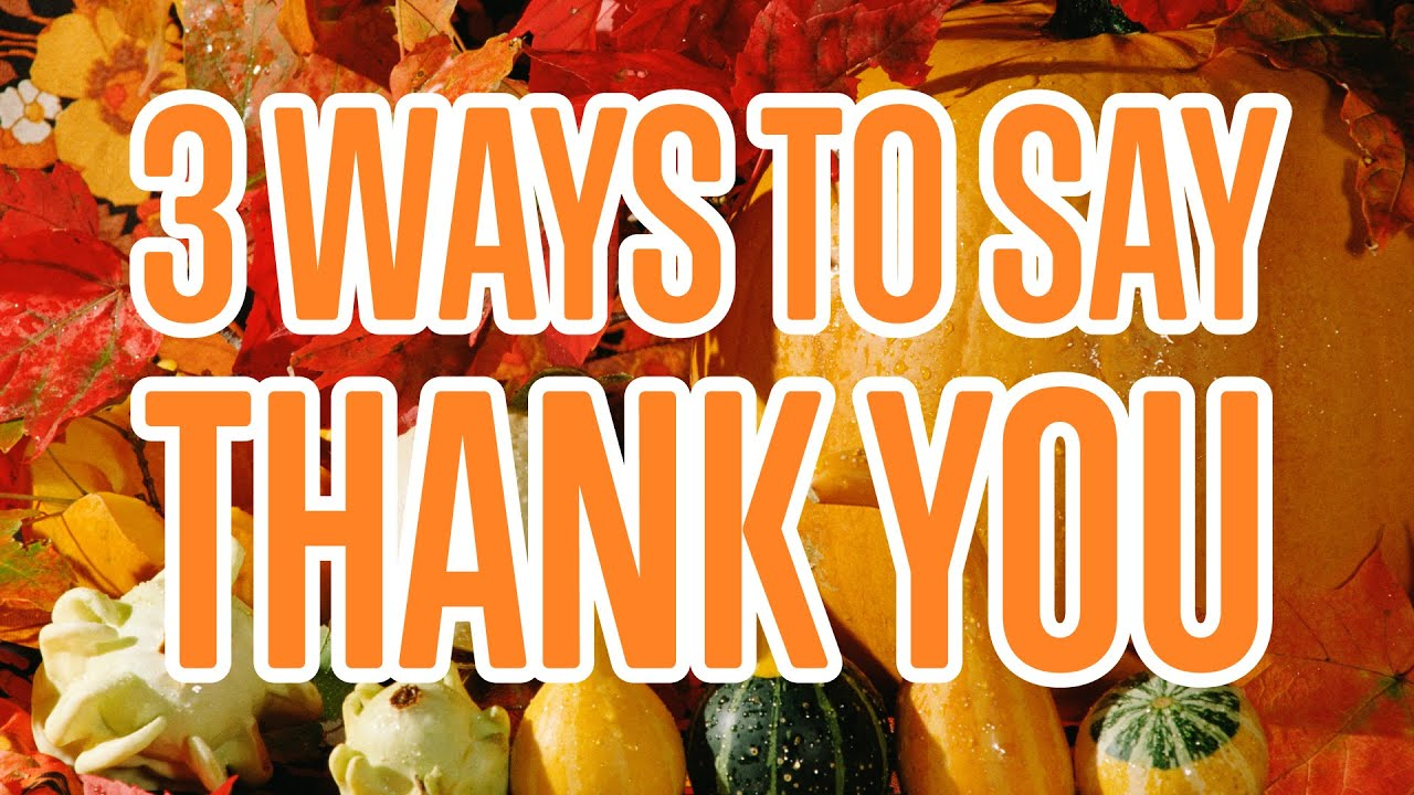 3 Ways To Say Thank You In Italian Youtube