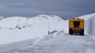 Rocky Mountain Nation Park Snow Removal on Trail Ridge Road