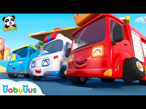 Baby Panda's Dream - Super Car Racer | Car Story for Kids | Fire Truck, Monster Truck | BabyBus