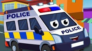 Polis van untuk kanak-kanak | Video basuh kereta | Kereta mainan kanak-kanak | Police Van