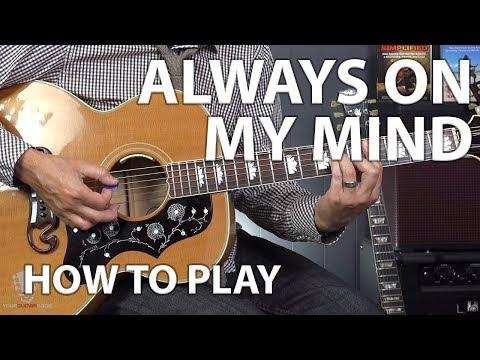 Always On My Mind by Elvis Presley - Beginner Guitar Lesson