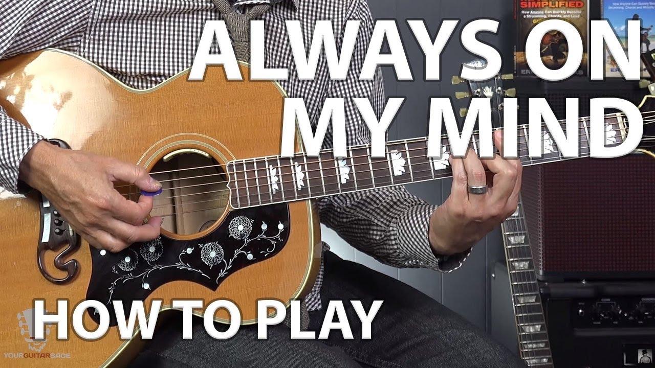 Always On My Mind By Elvis Presley Beginner Guitar Lesson Youtube