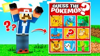 Pokemon GUESS WHO in Minecraft! (Hard)