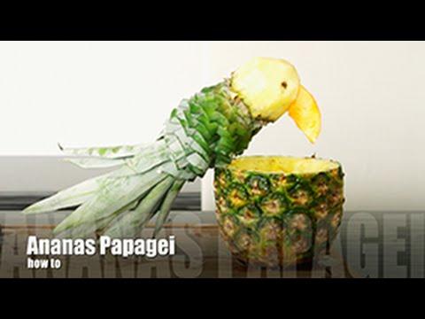 diy ananas papagei jeder kann deko schnitzen sieh das ergebnis meines ersten versuchs. Black Bedroom Furniture Sets. Home Design Ideas