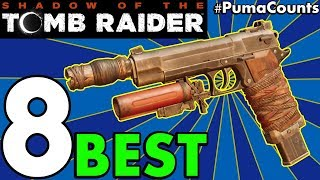 Top 8 Best Guns, Bows and Weapons in Shadow of the Tomb Raider (Tomb Raider 2018) #PumaCounts