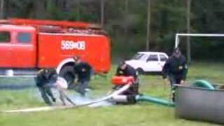 Pokaz Strażacki w KoZi ''motopompa''