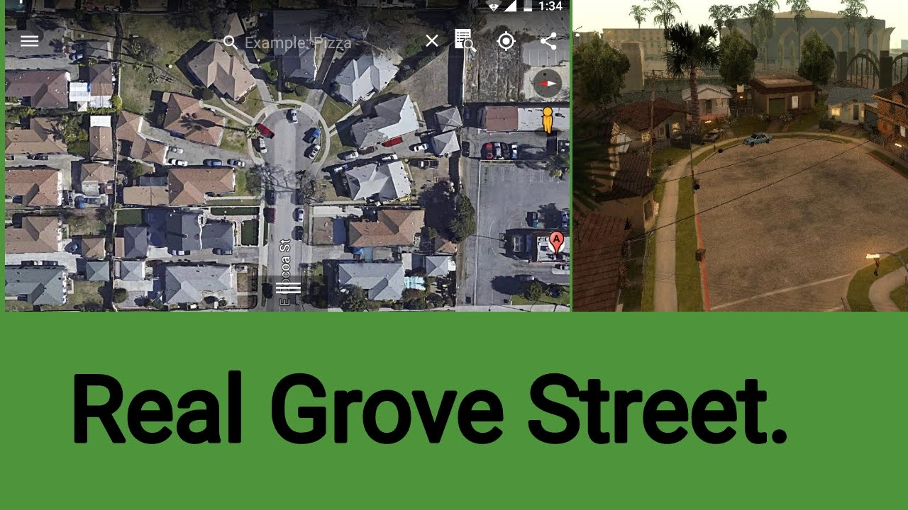 Real Grove Street Location From GTA San Andreas