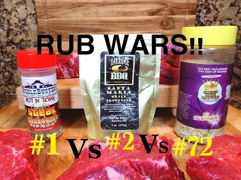 BBQSUPERSTARS/BBQ RUBS/RUB COMPARISON/RUB TESTING/SUCKLEBUSTERS/OAKRIDGE BBQ/ HEAVEN MADE PRODUCTS