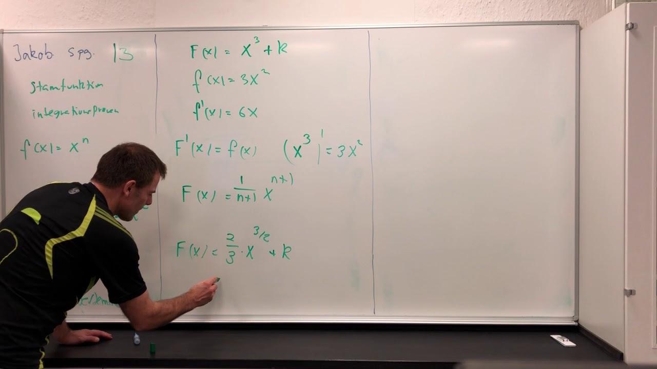 JAKOB MAB Spg 13 Integralregning stamfunktion og ubestemt integral fx=x^n 2017