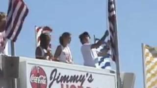 Boardwalk Crowd Stops for America