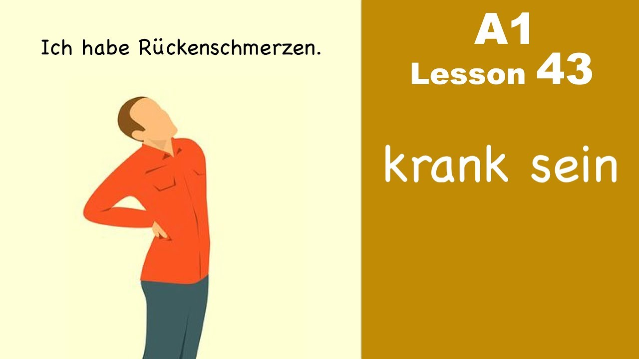 Learn German | krank sein | German for beginners | A1 - Lesson 43