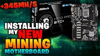 Installing 12 rx 570s 4gbs on the H110 Pro BTC Mining Motherboard crazy hashrate
