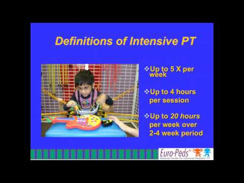Euro-Peds Webinar: Intensive Pediatric Physical Therapy 101
