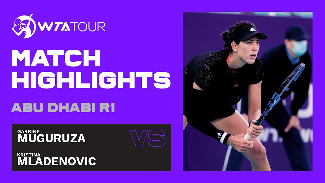 Garbine Muguruza vs. Kristina Mladenovic | 2021 Abu Dhabi First Round | WTA Highlights
