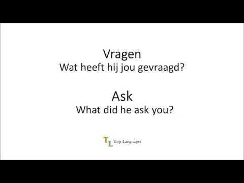 Learn Dutch English - Verbs Werkwoorden - Nederlands Engels sentences - zinnen 2