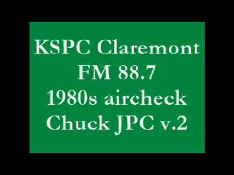 KSPC Claremont FM 88.7 1980s aircheck Chuck JPC v.2