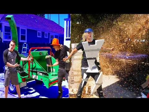 HUMAN VS WOOD CHIPPER! (HORRIBLE ENDING)