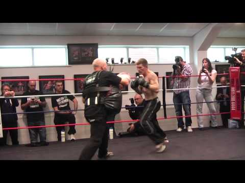 Ricky Hatton public workout